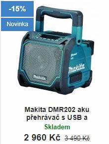 Aku rádio Makita DMR202