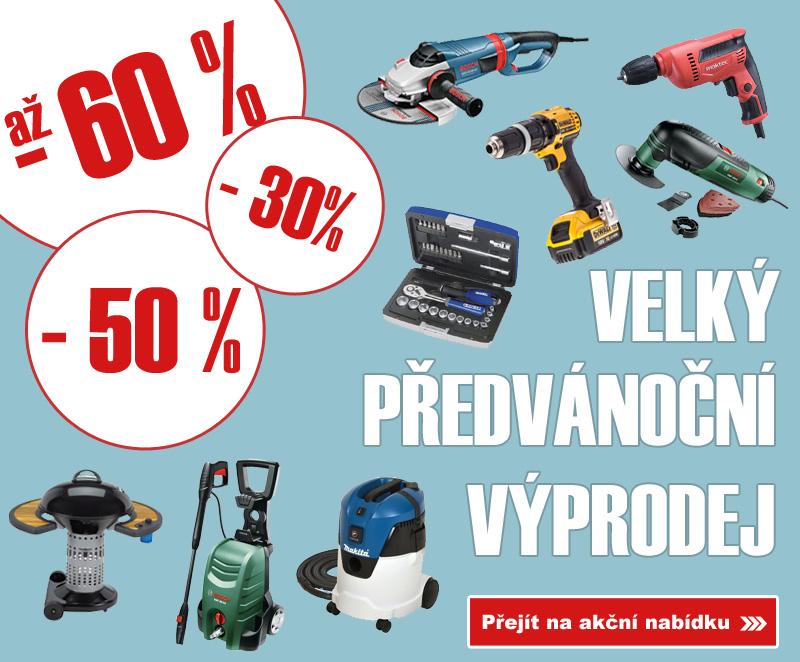 Velký předvánoční výprodej nářadí a zahradní techniky ELVIN.CZ