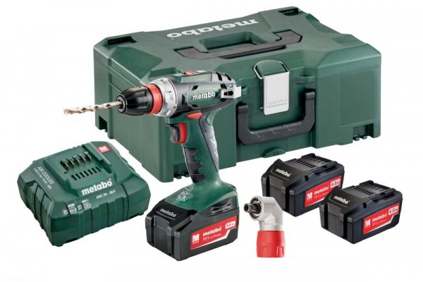 METABO BS 18 Quick Set aku vrtačka 18V 3x4.0Ah