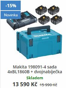 Aku sada akumulátorů Makita BL1860B