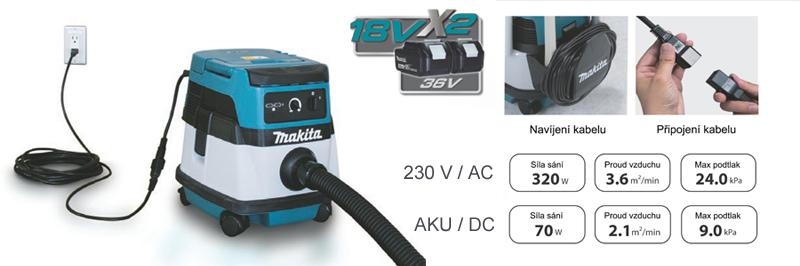 hybridní aku vysavač Makita DVC860L