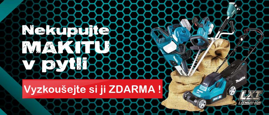 Nekupujte Makitu v pytli - vyzkoušejte si aku zahradní stroj z naší půjčovny!