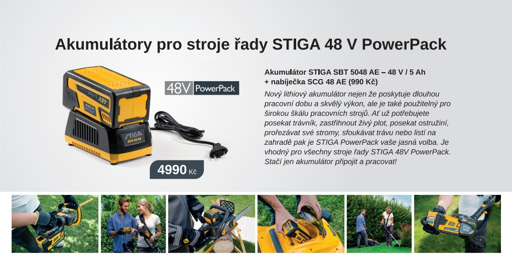 Aku program STIGA 48V PowerPack