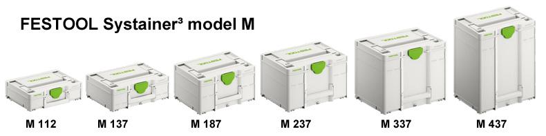 Nové modely M Systainer3 Festool