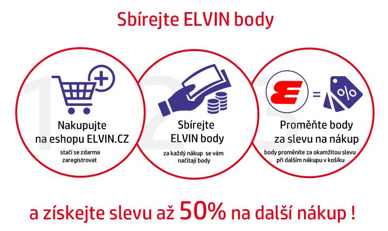 Sbírejte Elvin body a získejte slevu na další nákup