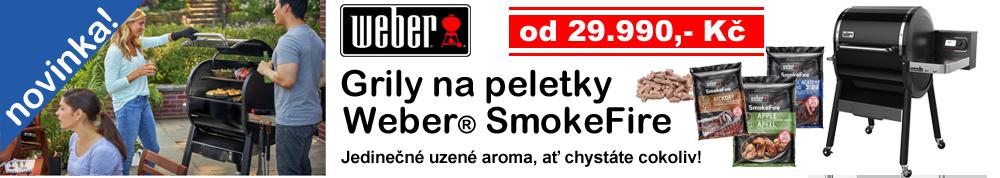 Nové peletkové grily Weber SmokeFire
