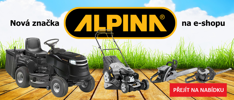 Banner zahradní technika Alpina